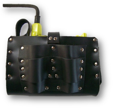 ICCL LTEZ 2 - Leather ICCL Battery Pouch with Tool Holder & Eziscan - Mine Shop