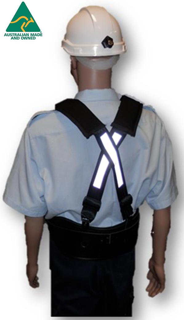 WXSH 102L 1 - Miners Leather Back Support Belt - Mine Shop