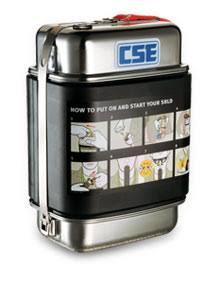 CSESR200 - CSE Leather Self Rescue Pouch Vertical - Mine Shop