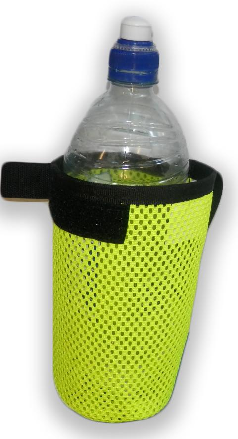 Fluro Bottle Holder 1 - Mesh Drink Bottle Holder HiViz - Scarborough Upholstery