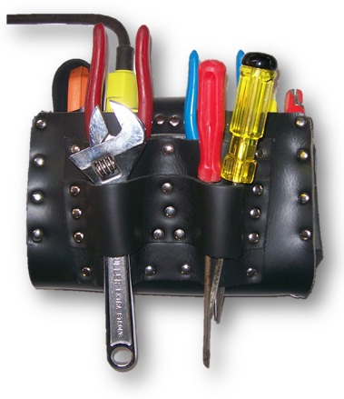 ICCL LTEZ - Leather ICCL Battery Pouch with Tool Holder & Eziscan - Mine Shop