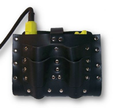 ICCL TH - Leather ICCL Battery Pouch with Tool Holder - Mine Shop