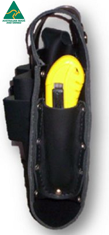LBPH 043 2 - Leather Battery Pouch with Tool Holder - Mine Shop