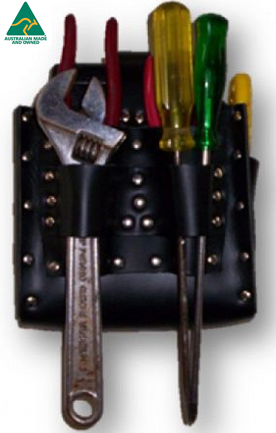 LBPH 043 3 - Leather Battery Pouch with Tool Holder - Mine Shop