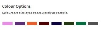 Canvas Colour Options - Mine Shop - Scarborough Upholstery