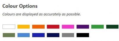 PVC Colour Options - Mine Shop - Scarborough Upholstery